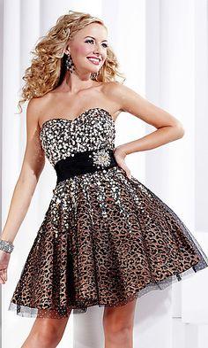 Strapless Short Hannah S Prom Dress