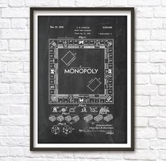 Hey, I found this really awesome Etsy listing at https://www.etsy.com/listing/189973560/monopoly-game-patent-wall-art-poster