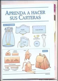 Manos Creativas Melida added 56 new photos to the album: Aprenda hacer bolsos y carteras — with Maby Nona Mora and Pilar Igreda Milla. Sewing Hacks, Sewing Tutorials, Sewing Projects, Sacs Tote Bags, Backpack Bags, Easy Sewing Patterns, Bag Patterns, Leather Pattern, Fabric Bags