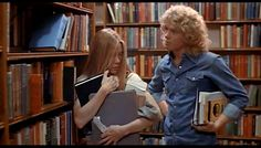 Carrie (1976). Shy Carrie and her crush meet in the library. Not a happy ending to this one.... Carrie Movie, Love Movie, Movie Tv, Susan Sarandon, Jane Birkin, Marlon Brando, Jack Nicholson, Carrie Stephen King, Piper Laurie