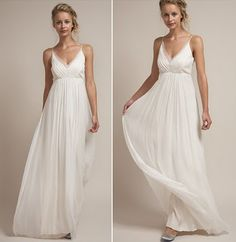 Buy & sell new, sample and used wedding dresses + bridal party gowns. Your dream wedding dress is here - at a truly amazing price! Used Wedding Dresses, Boho Wedding Dress, Bridal Dresses, Wedding Gowns, Bridesmaid Dresses, Simple Dresses, Pretty Dresses, Wedding Planer, Spaghetti Strap Wedding Dress