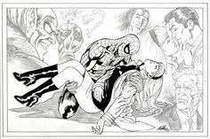 Death of Gwen Stacy by Al Rio Marvel Spider Gwen, Comic Art Community, Gwen Stacy, Iconic Photos, Art Sites, Amazing Spider, Rio, Spiderman, Fan Art