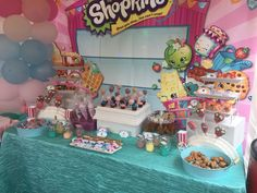 Shopkins party! backdrop from ebay $12 (china seller)