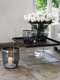 Fink Living Glas-Vase / Windlicht Deluxe Smoke kaufen im borono Online Shop