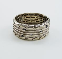 tire ring white gold s tire wedding ring with