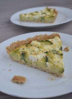 Broccoli Taart met een Bodem van Amandelen - Blij Suikervrij