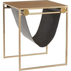 Option for Table in between chairs in Nook Area - SAIC sling nightstand-side table | CB2