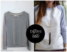Merrick's Art // Style + Sewing for the Everyday Girl: CONTRASTING RAGLAN SWEATSHIRT REFASHION & TUTORIAL