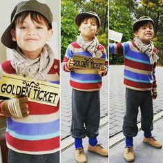 Diego as Charlie Bucket #chocolatefactory #charliebucket #diy  #bookweek #cuteness