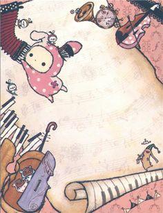 Sentimental Circus mini Note Pad bunny & sheet of music 4