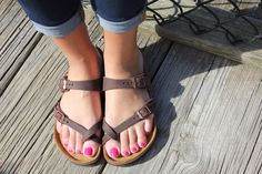 Birkenstocks Mayari Habana Oiled Leather Sandals Anchors and Pearls