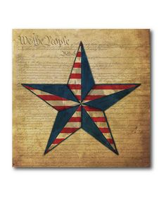 Take a look at this Flag Star Canvas by COURTSIDE MARKET on #zulily today!