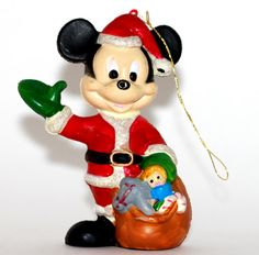 Mickey Mouse Ornament  Walt Disney Co Vintage by VintageTerrace