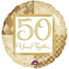 Golden wedding anniversary party supplies offer themed anniversary tableware with matching decorations, invitations, balloons, and party favors. Golden Anniversary, 50th Wedding Anniversary, Anniversary Parties, Anniversary Ideas, Birthday Supplies, Wedding Supplies, Party Supplies, 50th Anniversary Decorations, Party World