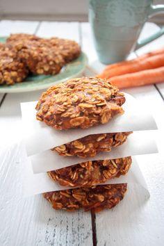 Carrot Cake Cookies mit Bananen und Haferflocken #vegan