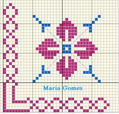 Maria Gomes : Os Meus Gráficos de Ponto Cruz Filet Crochet Charts, Cross Stitch Borders, Bargello, Pixel Art, Smurfs, Alphabet, Owl, Tapestry, Knitting