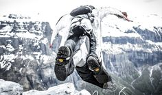 Wingsuit base jump, Sixt Fer A Cheval