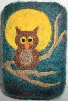 Night Owl Felted Soap by MountainScentament on Etsy, $12.50