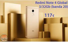 [Codice Sconto] Redmi Note 4 Global (banda20) 3/32Gb a 117€ spedizione e dogana inclusi #Xiaomi #Ns1 #Offerta #Phablet #Redmi #RedMiNote #RedmiNote4 #Xiaomi https://www.xiaomitoday.it/?p=16171