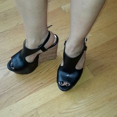 """New jessica simpson wedge Super cute! Black New  wedge sandals,  perfect for summer! Heel height """"5"""" with 2"""" platform. Jessica Simpson Shoes Wedges"""
