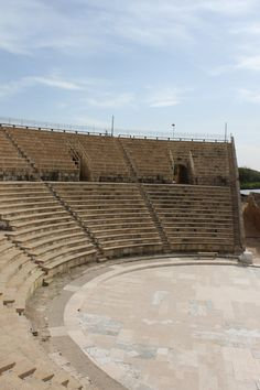Caesarea, the ancient Crusader and Roman town on the Mediterranean Sea