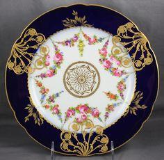 Dresden Porcelain Carl Thieme Cobalt Cabinet Plate   eBay