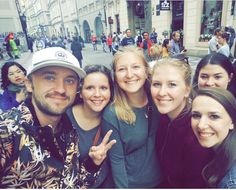 With fans in Prague