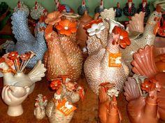 Galinhas de Cerâmica na Serra do Cipó