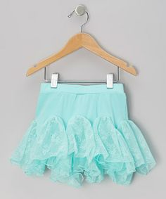 Take a look at this Turquoise Floral Lace Kick Pleat Skirt - Infant, Toddler & Girls by Just Fab Girls on #zulily today!