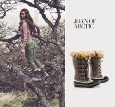 JOAN OF ARCTIC Sorrel.  Just ordered theses since my Mom claimed the boots I bought in Canada for the cabin in the Black Hills
