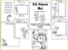 "Free Dr. Seuss All About Me Printable Book...Follow for FREE ""too-not-to-keep"" teaching tools & other fun stuff :)"
