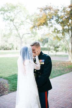 Heartfelt Marine wedding: http://www.stylemepretty.com/california-weddings/pasadena/2016/05/30/these-marines-winter-wedding-is-the-royal-wedding-2-0/ | Photography:Brett Hickman Photographers - http://bretthickman.com/