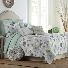 Cheap ocean bedding set, Buy Quality bedding set directly from China comforter set Suppliers: FADFAY Home Textile Cotton Ocean Bedding Set Bed Covers Seashells Beach Themed Nautical Bedding Queen Size Comforter Set Ocean Bedding, Tropical Bedding, Beach Bedding Sets, Nautical Bedding, Coastal Bedding, Coastal Bedrooms, Queen Bedding Sets, Quilt Bedding, Comforter Sets