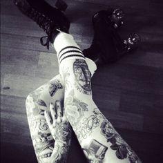 Tattoos and skates