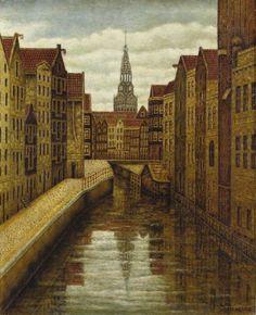 Sal Meijer (1877-1965). Kolkje, Amsterdam