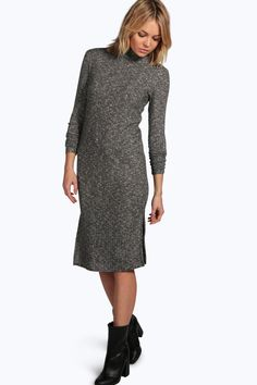 Need a new dress? boohoo's collection of on-trend dresses covers all your plans, from going out styles to day dresses and must-have knit styles. Dress For You, New Dress, Jumper Dress, Roll Neck, Boohoo, Shirt Style, Going Out, Sweaters, March