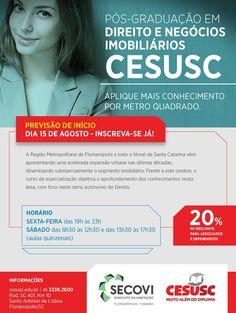 ocê sabia que existe uma pós-graduação em Florianópolis na área de Direito e Negócios Imobiliários?