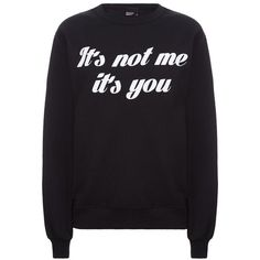 Private Party It's Not Me Sweater ($115) ❤ liked on Polyvore featuring tops, sweaters, party tops, holiday party tops, night out tops, party sweaters and going out tops
