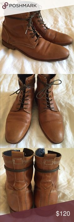 138e1767ac Mens H by Hudson Swathmore Boots 10 Originally Mens H by Hudson Tan  Swathmore boots. Size Us In good condition with wear on soles.