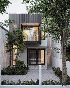 Minimal House Design, Modern Small House Design, Small House Exteriors, Modern Minimalist House, Tiny House Design, Minimalist Interior, Minimalist Bedroom, Small Modern House Exterior, Japan House Design