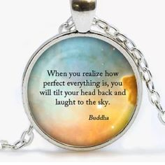 BUDDHA QUOTE Silver tone. Alloy glass about 20 inches. Medallion about an inch. Jewelry Necklaces