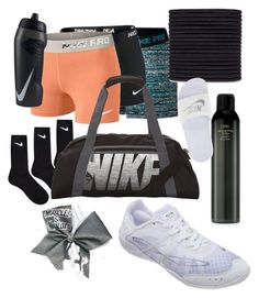 """What's in my cheer bag"" by avery-xix on Polyvore featuring NIKE, scunci and Oribe"