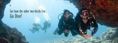 If you're not a scuba diver, you're only enjoying 1/3 of what our ocean planet has to offer.