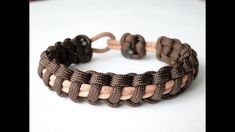 How to Make a Paracord/Leather Cord Bracelet- Thin Line Cobra Weave-CbyS...