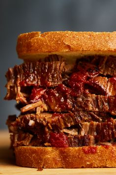 Cook brisket low and slow with crushed tomatoes, brown sugar and liquid smoke in a slow cooker, and get perfectly tender barbecue. Slow Cooker Brisket, Crock Pot Slow Cooker, Crock Pot Cooking, Slow Cooker Recipes, Crockpot Recipes, Cooking Recipes, Bbq Brisket, Beef Brisket Crock Pot, How To Cook Brisket