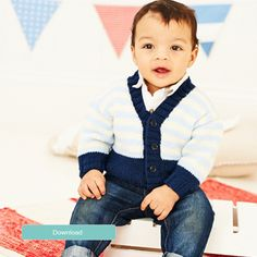 FREE Stylecraft children's striped cardigan pattern - LoveKnitting blog