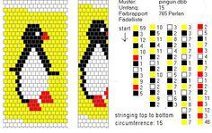 Schlauchketten häkeln - Musterbibliothek: pinguin
