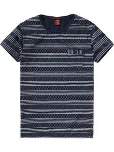 Indigoblaues T-Shirt | T-Shirts S/S | Herrenbekleidung von Scotch & Soda