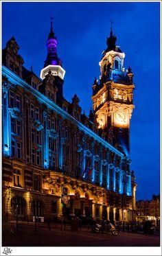 Beffroi de la Chambre de commerce (Belfry), Grand' Place - Lille, France