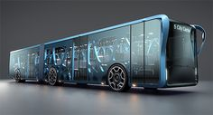 Футуристический автобус из прозрачных ЖК-панелей Willie Bus